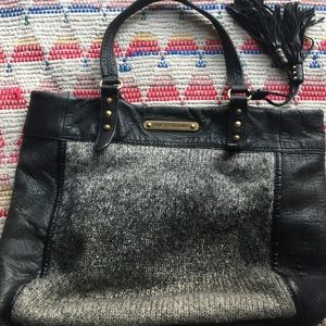 Juicy Couture Wool & Leather Ombré Tote